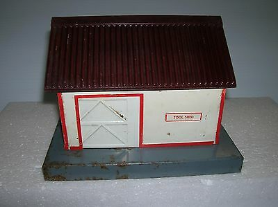 American Flyer # 585 Tool Shed  , some corrosion , used no box lot # 9553