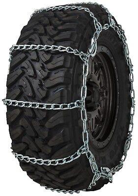 Quality Chain 3236QC Wide Base Cam 7mm Link Tire Chains Snow SUV 4x4 Truck