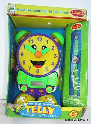 TELLY Teaching Time Clock Free Watch! The Learning Journey Learn Ages 3