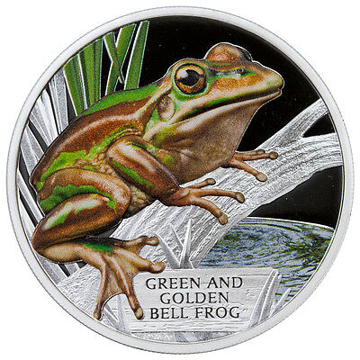 2017 Tuvalu $1 1 oz. Proof Silver Endangered Green & Golden Bell Frog SKU43324