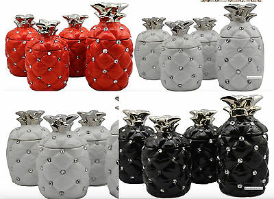 New Pineapple Tea Sugar Coffee Canisters Jar Romany Ornament Storage