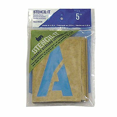 Graphic Products Plastic Stencil-It Reusable Lettering Set-5-inch