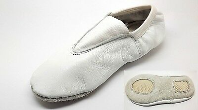 Gymnastic White Leather Shoes Trampolining Dance Child's And Adult's Sizes