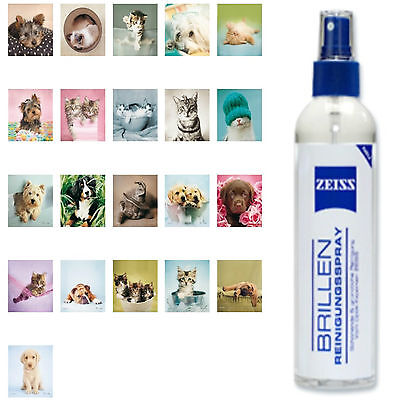 Zeiss Glasses cleaning spray 240ml + Micro-fiber cloth with Print