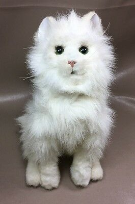 "Has to Fur Real Friends White Persian Cat Kitty 13"" Realistic Comes To Life"