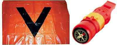 SAFETY DISTRESS SIGNAL V-SHEET ORANGE PVC - Marine Boat Requirement/Regulation