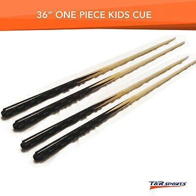 "4 x 36"" 1 Piece Wood Cues for Pool Billiards Snooker Kid Free Post Small Table"