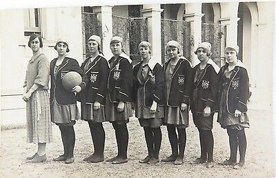 RARE c1920 IPSWICH GIRLS GRAMMAR (QUEENSLAND) REAL PHOTO POSTCARD.