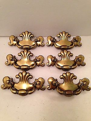 Lot 6 VTG Keeler Brass Co KBC Drawer Pulls Bail Drop Handle NI9250            P2