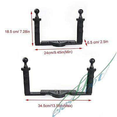 Dual Arm Bracket Tray Grip Handle For Diving Camera Housing Case Cover【IE】