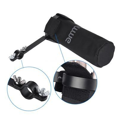 ammoon Drum Stick Holder Drumstick Bag 600D with Alloy Clamp for Drum Stand S4B0