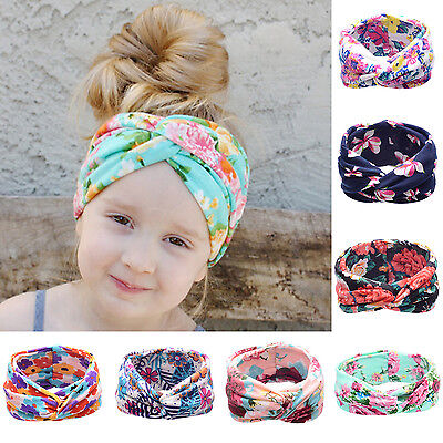 NT Newborn Baby Toddler Girls Kid Bow Rabbit Flower Hair Band Turban Headband