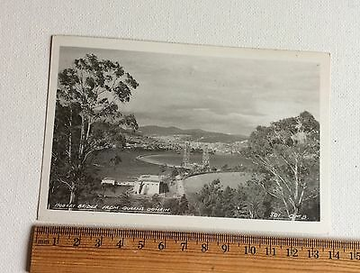 Vintage Photo Postcard  Hobart Bridge From Queen's Domain Tas  Australia
