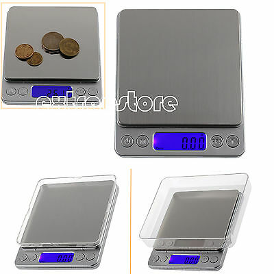 Pocket Digital Scales Jewellery Gold Food Weighing Mini LCD Electronic 0.01-500g