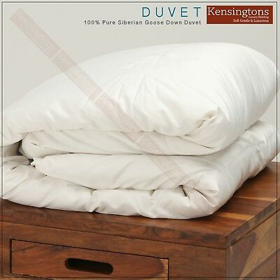 100% Pure Siberian Goose Down Silk Cover Super King Bed Duvet All Togs