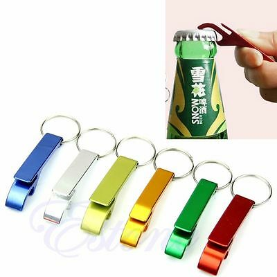 10pcs Key Chain Aluminum Beer BOTTLE and CAN OPENER small beverage ring