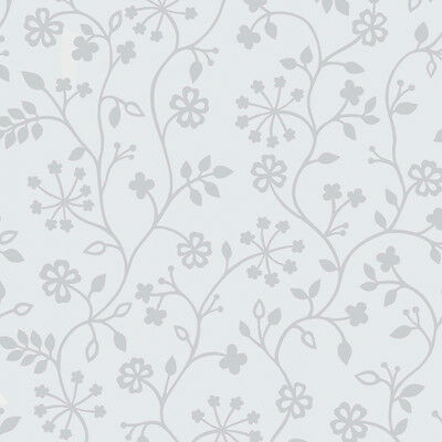 Decorative Static Glass Window Privacy Film - White Floral - 45cmx15m