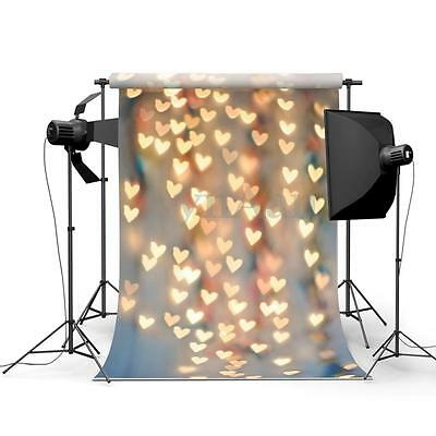 5X7FT Heart-shaped Light Halo Clear Studio Photo Photography Background Backdrop