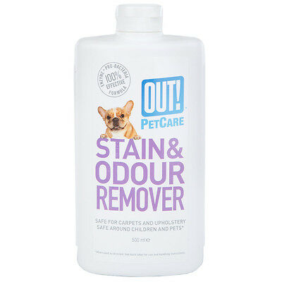 OUT! Pet Care Stain & Odour Remover Cleaner Liquid - Home Carpet 500ml