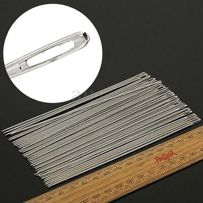 50Pcs 6 Inch Long Sculpting Needles Large Eye Needle for Doll Cushion Upholstery