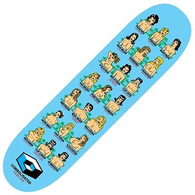 Skateboard Deck - Consolidated Boobs Blue 8.38inch + FREE GRIPTAPE