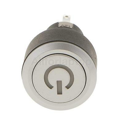 Kunststoff blau LED Momentary 22mm Push Button Switch 12V SPST Wasserdicht