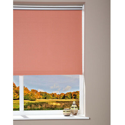 Luxury Blackout Window Roller Blind - Trimmable -  Peach - 52 x 180cm