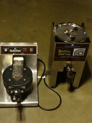 Commercial Waffle Maker 110 Volts with batter server