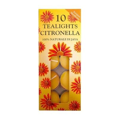 Prices Citronella 10 Pack Tealights Mosquito Fly Insect Repeller Garden NEW