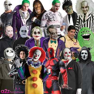 Adult Mens Halloween Tv Film Character Scary Fancy Dress Costume Outfit