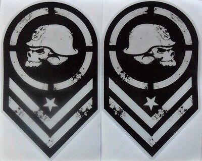 Metal Mulisha DECAL STICKERS 3M REFLECTIVE VINYL 4x65 2x3
