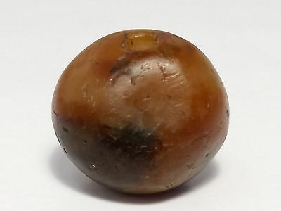 14.3mm ANCIENT RARE WESTERN ASIAN BANDED AGATE BEAD