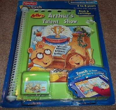 Fisher-Price - PowerTouch Arthur's Talent Show Interactive Book & Cartridge New