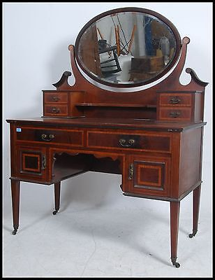 quality Edwardian mahogany inlaid dressing table chest