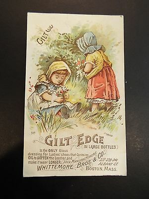 Whittemore Bros. & Co. Gilt Edge Victorian Trade Card