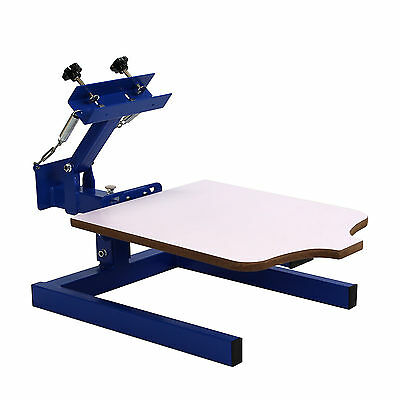 1 Color 1 Station Silk Screen Commercial Printing Press Pallet Machine Blue