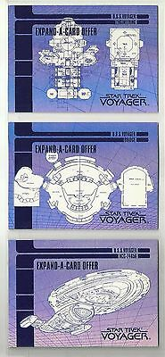 Star Trek: Season 1 Series 1 EXPAND-A-CARD OFFER Complete Set of 3 Cards (X1-X3)
