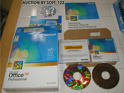 MS Microsoft Office XP Professional Full Retail Licesned for 2 PCs =RETAIL BOX=