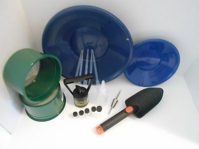 M10 Blue Mini Gold Classifier Screen & Gold Pan Panning Kit SPECIAL PRICE!!!!