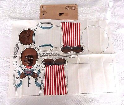 """cream Of Wheat"" Rastus Doll~ Never Cut~ Original Shipping Sleeve"