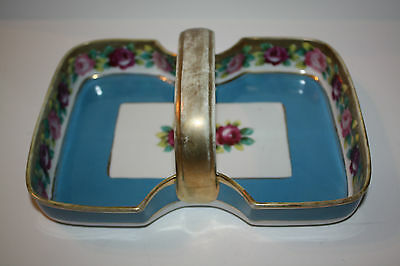 "Pretty ""NIPPON"" Hand Painted Porcelain Tray"