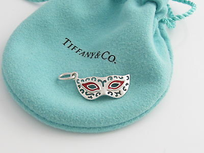 Tiffany & Co NEW Picasso Red Enamel Mask Charm 4 Bracelet / Necklace!