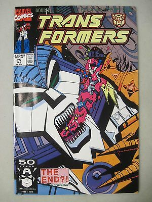 Transformers #75 Marvel Comics Double-Sized Anniversary Issue