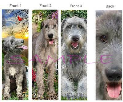 3 - IRISH WOLFHOUND BOOKMARK Book Mark Card ART Dog Figurine Ornament-Deerhound