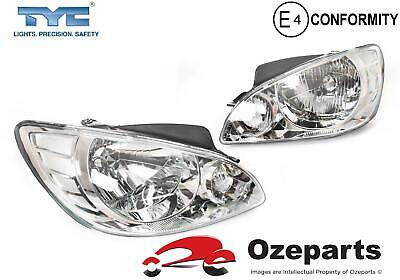 TYC Pair LH+RH Head Light Lamp For Hyundai Getz TB Series 2 Hatch 2007~2009