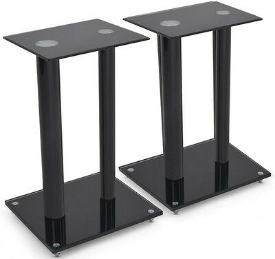 Pair of speaker stands, 61 cm high