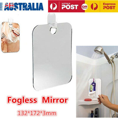 New Anti-Fog Shower Mirror Fogless Shaving Mirror 17x13cm AU Stock