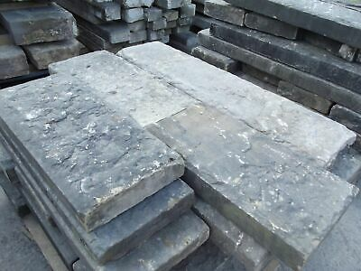 """Reclaimed 12"""" Wide York Stone Copings / Toppers Smooth & Riven (per FT)"""