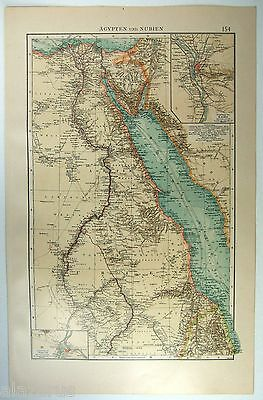 Original 1903 German Map of Egypt and Nubia