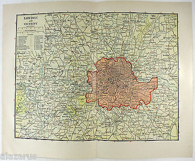Original 1914 Map of London and Vicinity